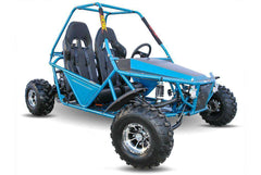 Kandi KD-200GKM-2A 200cc Off-Road 2-Seat Front Suspension 4-Wheeler Gas Go Kart Blue New