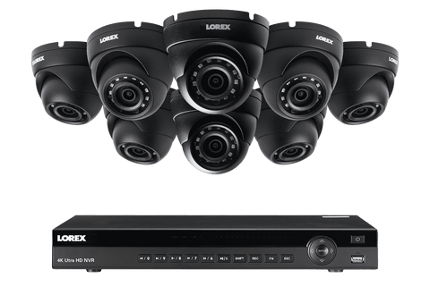 Lorex HDIP88BW 8 Camera 8 Channel Weatherproof 2K IP Resolution Security Surveillance System New