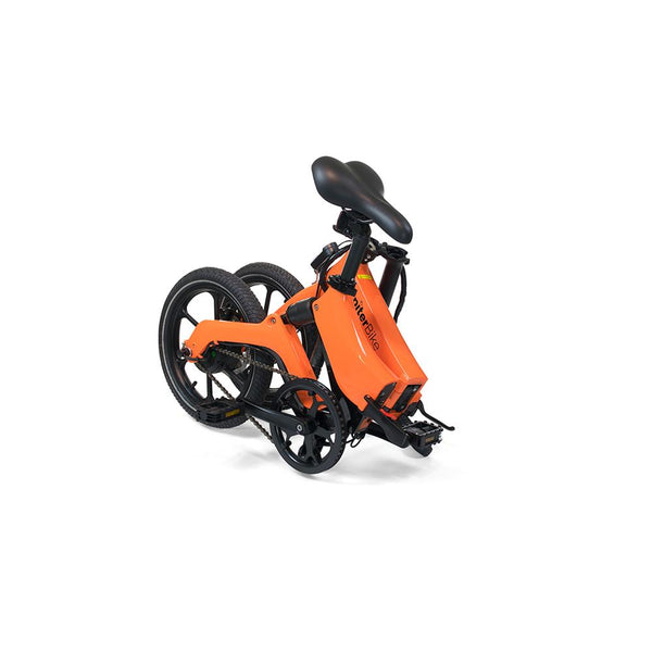 "Jupiter Bike Discovery 16"" 36V 250W Lightweight Folding Pedal Assist Electric Bike Orange New"