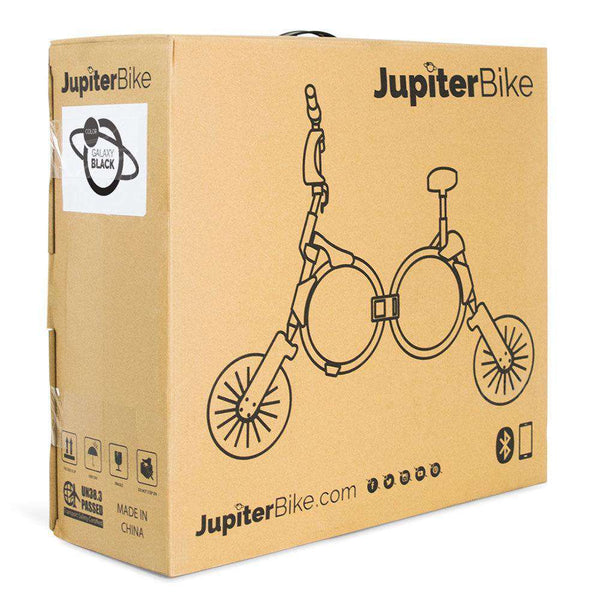 Jupiter Bike 123-WHITE Unisex 10 Inch 100V Lithium Ion Battery 240W Electric Folding Bicycle Lunar White New