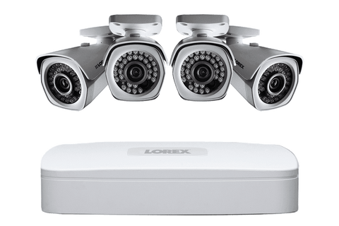Lorex LNR341C4B 4 Camera 4 Channel Indoor/Outdoor HD 1080p 4K NVR Surveillance Security System New