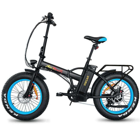 Addmotor MOTAN M150 48V 500W Folding Electric Fat Tire Bike Blue New