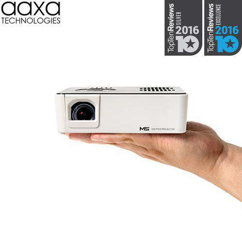 AAXA M5 HD Micro Portable WXGA DLP 1080p Mini Pico Projector with Stereo Speakers 900 Lumens New
