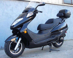 Roketa MC-13-150 Air-Cooled 150cc Engine Moped Scooter Street Legal with windshield Black New