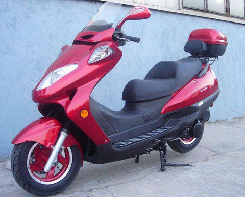 Roketa MC-13-150 Air-Cooled 150cc Engine Moped Scooter Street Legal with windshield Red New