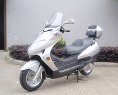 Roketa MC-13-150 Air-Cooled 150cc Engine Moped Scooter Street Legal with windshield Silver New
