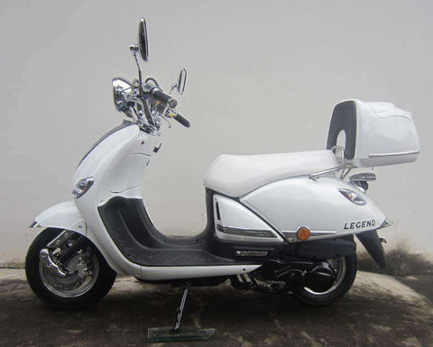 Roketa MC-16L-150 Legend 150cc Automatic 4 Stroke Engine Moped Scooter Street Legal White New