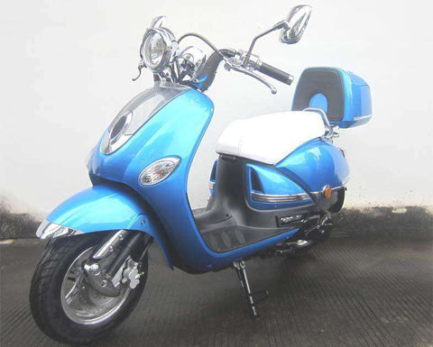 Roketa MC-16L-150 Legend 150cc Automatic 4 Stroke Engine Moped Scooter Street Legal Blue New