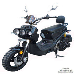 Roketa MC-22Y-150 Sport Air-Cooled 150cc Engine Moped Scooter Street Legal Black New