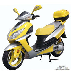 Roketa MC-75Y-150 Super Sport Style Air-Cooled 150cc Engine Moped Scooter Street Legal Yellow New