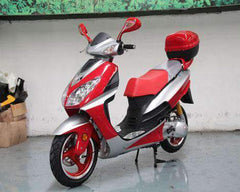 Roketa MC-75Y-150 Super Sport Style Air-Cooled 150cc Engine Moped Scooter Street Legal Red New