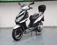 Roketa MC-75Y-150 Super Sport Style Air-Cooled 150cc Engine Moped Scooter Street Legal Black New