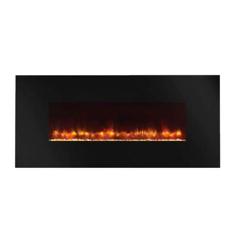 Hearth & Home SimpliFire SF-WM58-BK 58 Inch Linear Wall Mount Electric LED Fireplace New