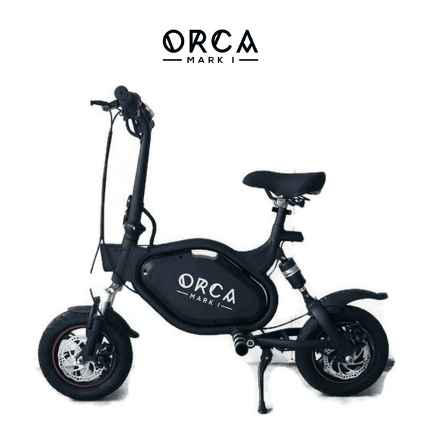 VORO ORCA Mark 48V 500W Foldable Seated Electric Scooter with Alarm System Black New
