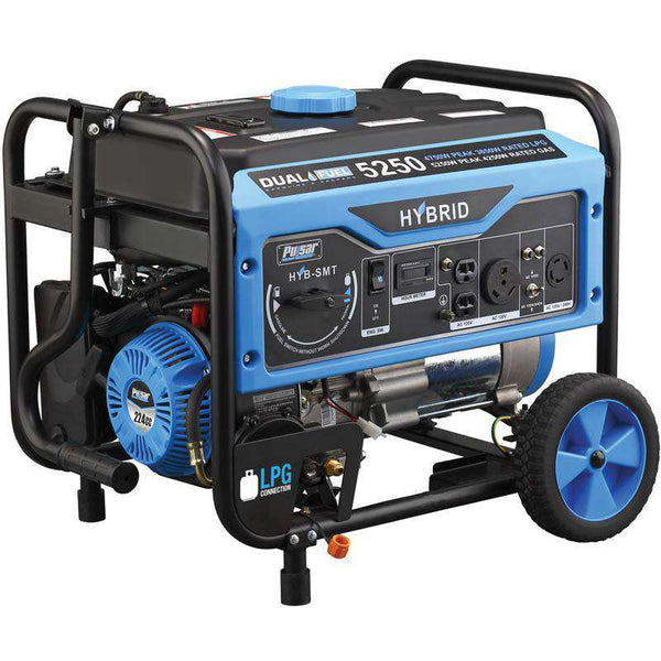 Pulsar PG5250B 5250W/4250W Dual Fuel Recoil Start Portable Generator New