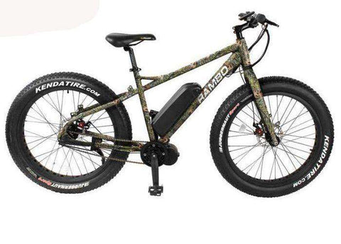 "Rambo R750C G3 Camo 750W 48V 26"" Aluminum Alloy Rigid Mossy Oak Obsession Hunting Bike New"