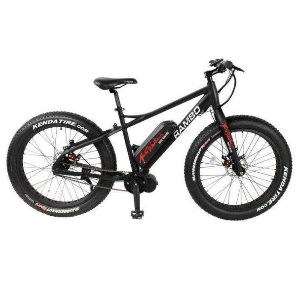 "Rambo R750 G3 Most Wanted Edition 750W 48V 26"" Aluminum Alloy Rigid Electric Hunting Bike New"