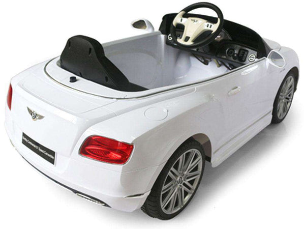 Rastar RA-82100_White Bentley GTC 12 Volt Remote Controlled With Lights  Ride On Toy Car White New
