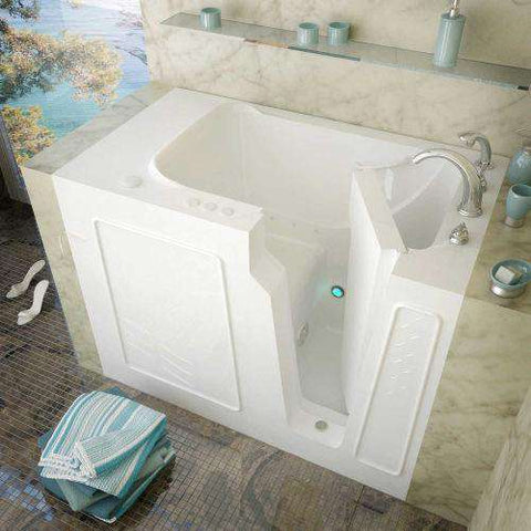 MediTub 2952RWA 29 x 52 Right Drain Air Jetted Walk-In Bathtub White New