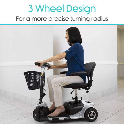 Vive Health MOB1025 3-Wheel Mobility Scooter Blue New
