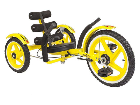 Mobo Mobito Sport TRI-202Y The Ultimate Three Wheeled Youth Cruiser Yellow New