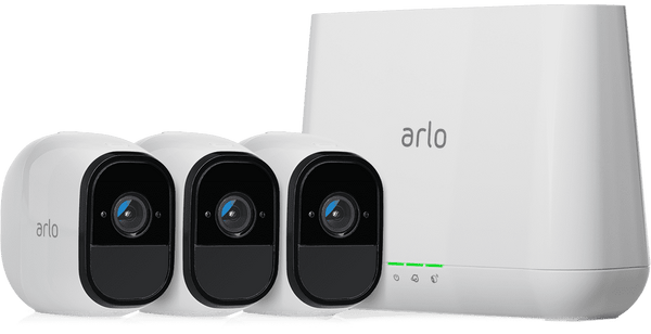 Arlo Pro VMS4330 Smart Security system Video Server with 3 Indoor/Outdoor Cameras Wireless New