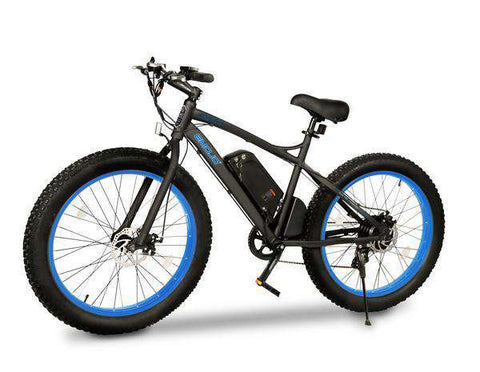 "EMOJO Wildcat EBK03-02 48V 500W 26"" Fat Tire Electric Bike Black/Blue New"