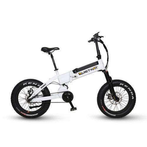 "QuietKat 18QKFM750BHRM-WHT Bandit 750W 48V 20"" Folding Electric Hunting Fishing Bike New"