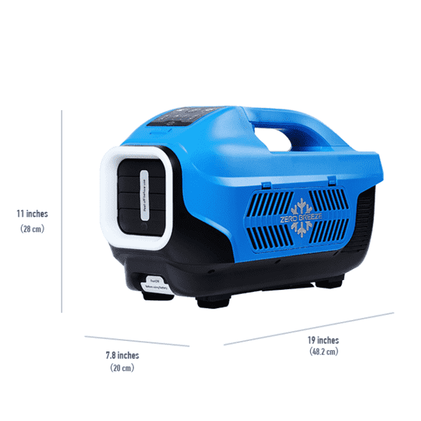 Zero Breeze Z19-B 1100 BTU 50 Sq. Ft. Small Area Camping Portable Air Conditioner w/ Power Bank Battery Open Box