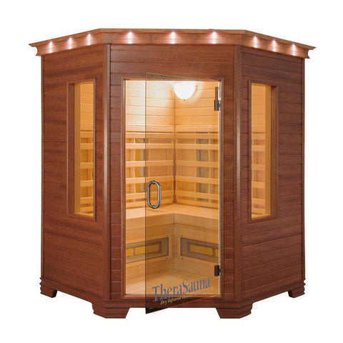 TheraSauna TS6238 4 Person 78 Inch Corner Executive Ceramic Infrared Sauna New