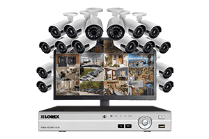 Lorex MPX1616MUW 16 Camera 16 Channel HD 1080P DVR with Widescreen Monitor Surveillance Security System New