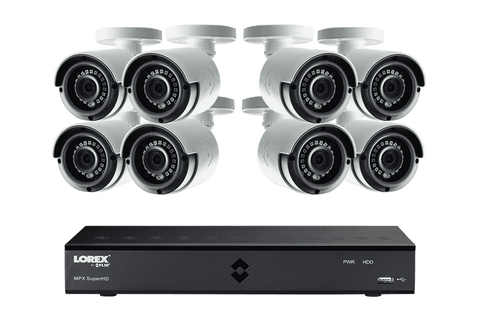 Lorex MPX2K88 Super HD 4MP 8 Camera 8 Channel DVR Surveillance Security System New