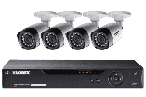Lorex LHD84W HD 1080P 4 Cameras 8 Channel Weatherproof DVR Surveillance Security System New