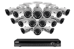Lorex LN10802-166W 16 Camera 16 Channel NVR 4MP HD Outdoor Surveillance Security System New