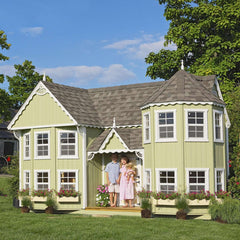 Little Cottage Company Sara Victorian 10 ft. x 18 Ft. Mansion Wood Playhouse DIY Kit New