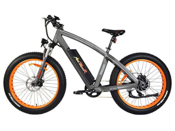 Addmotor MOTAN M-560 500 WATT 48V Front Suspension 26 inch Wheel Fat Tire Electric Bike Orange New
