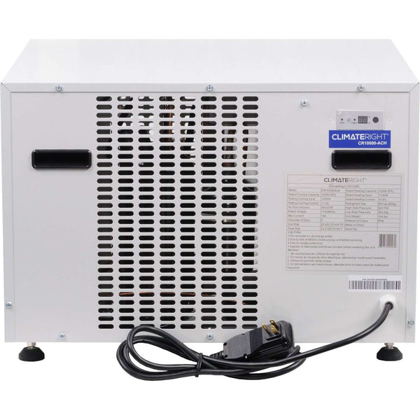 ClimateRight CR-10000-ACH Small House, Garage, Shed Air Conditioner/Heater - FactoryPure - 4