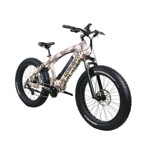 "QuietKat 18QKM1000CCAH-CAM Apex 1000W 48V 26"" 9 Speed Mid Drive Suspension Fat Tire Electric Hunting Fishing Bike Camo New"