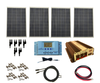 WindyNation SOK-400WPI-30RS Complete 400 Watt Solar Panel Kit with 3000W VertaMax Power Inverter for 12 Volt Battery Systems and Remote Switch Standard 12 AWG New