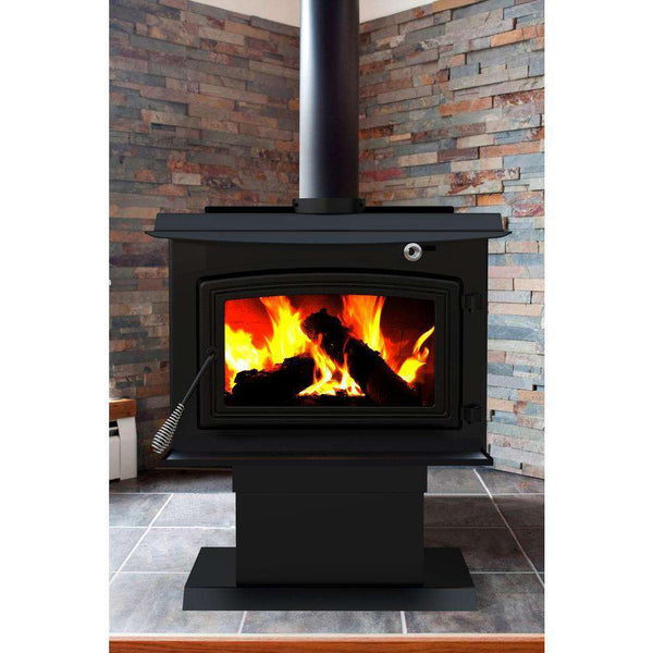 Pleasant Hearth WS-3029 2,200 Sq. Ft. Large 77,000 BTU EPA Certified Wood-Burning Stove New