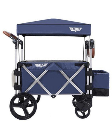 Keenz 7s 5-Point Harness Light Weight Stroller Wagon with Canopy Blue New
