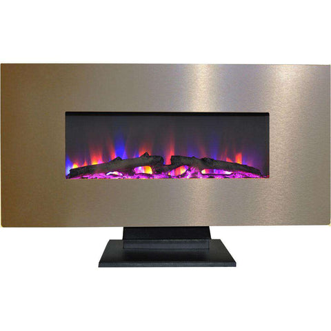 Cambridge CAM42WMEF-2BR 36 Inch Bronze with Multi-Color LED Flames and Driftwood Log Display New