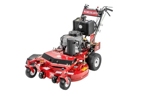 "WorldLawn WY28S11BSE 28"" Briggs and Stratton Electric Start with Recoil Backup Gas Self Propelled Walk Behind Mower New"