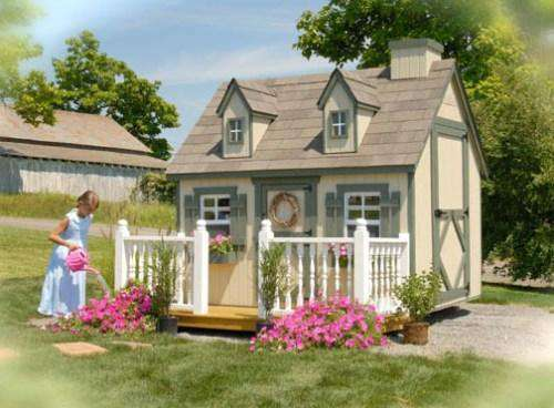 Little Cottage Company 8 ft. x 12 ft. Cape Cod Wood Playhouse DIY Kit New