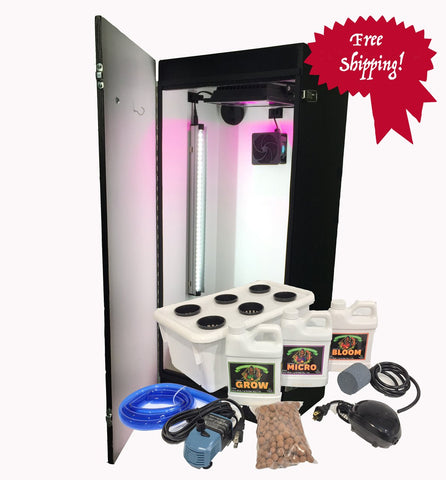 Dealzer Cash Crop 6.0 2 Plant LED Hydroponics Grow Box New