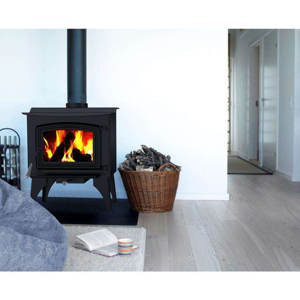 Pleasant Hearth WS-2417 1,200 Sq. Ft. Small 50,000 BTU EPA Certified Wood-Burning Stove New