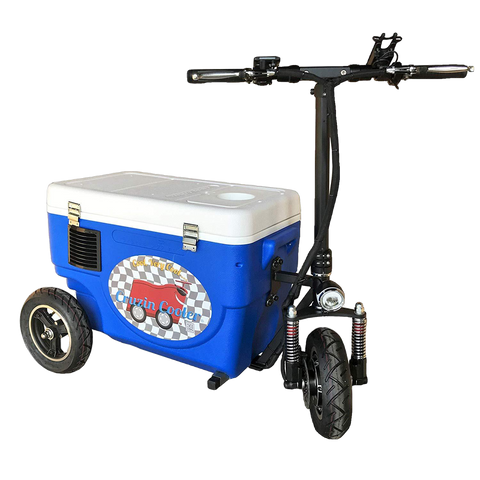 Cruzin Cooler CZHBBLUE Sport 500W 48V 3 Speed Motorized Ice Chest Scooter Blue New