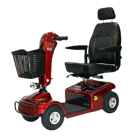 Shoprider 888B-4 Sunrunner 4-Wheel Mobility Scooter New Burgundy