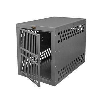"Zinger 10-DX4500-2-FD Deluxe Stationary Heavy Duty Aluminum Dog Crate Professional 4500 24""W x 30""H x 38""D Front Entry New"