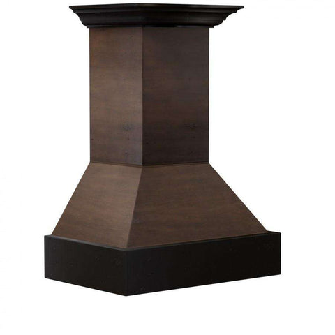 ZLINE 36 in. Wooden Wall Mount Range Hood in Antigua and Hamilton - Includes 1200 CFM Remote Motor (355AH-RD-36)